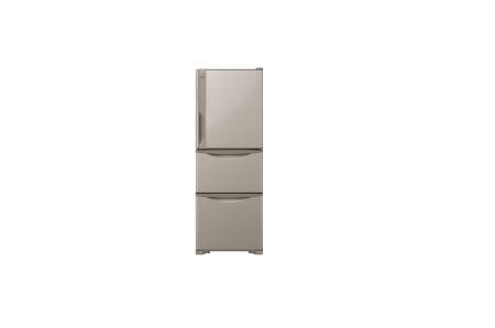 日立 冷蔵庫 265L 3ドア ライトブラウン R-27HV T
