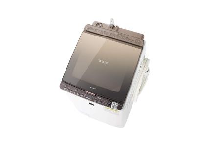 シャープ タテ型洗濯乾燥機 ES-PX10B-T (ブラウン系)