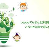 【Looopでんきと北海道電力を比較】安くてお得なのはどっち?
